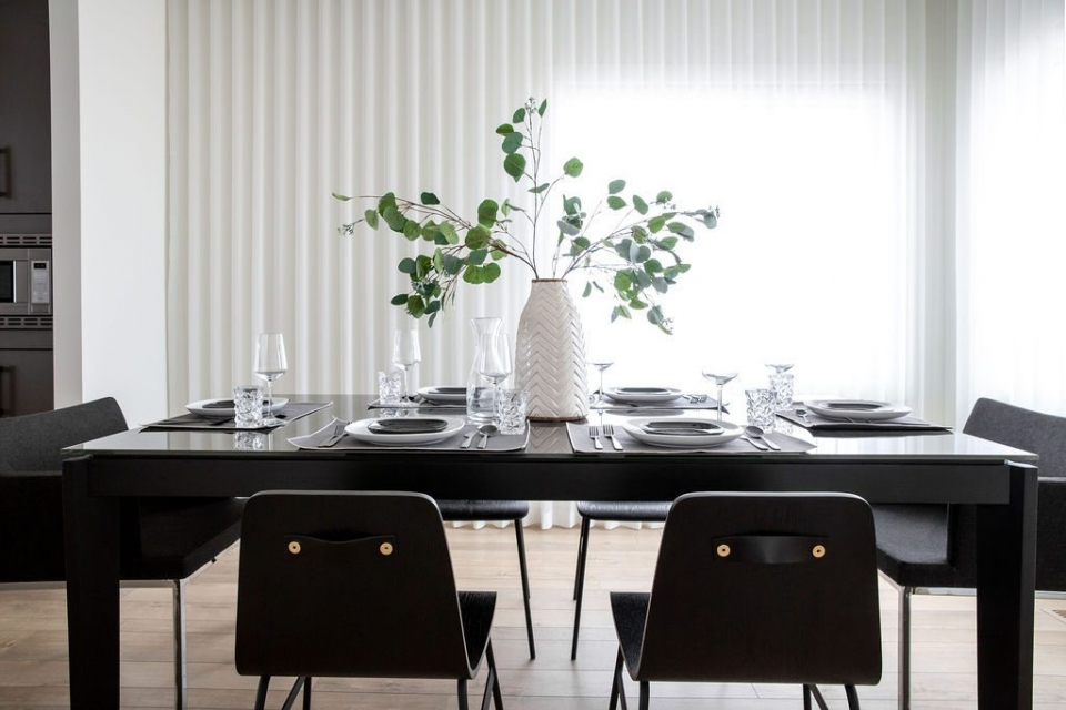 Modern Dining Room by Natalie Fuglestveit Interior Design Kelowna and Okanagan Interior Designer