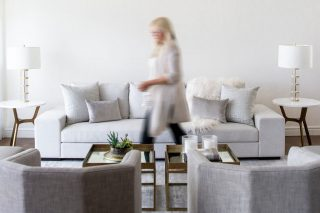 Kelowna Living Room Furniture by Okanagan Interior Design Firm, Natalie Fuglestveit Interior Design